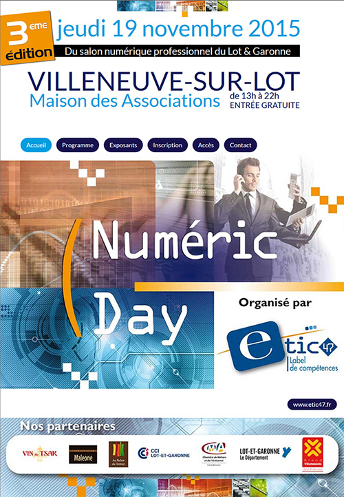 Numeric Day jeudi 19 novembre 2015 Villeneuve-sur-Lot