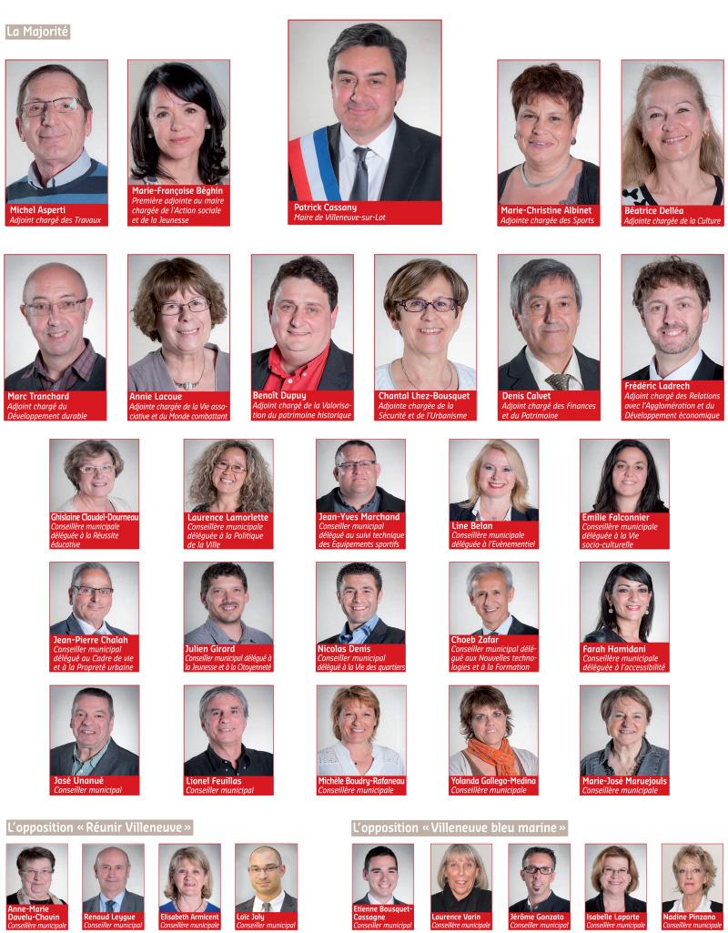Le Conseil municipal de Villeneuve-sur-Lot