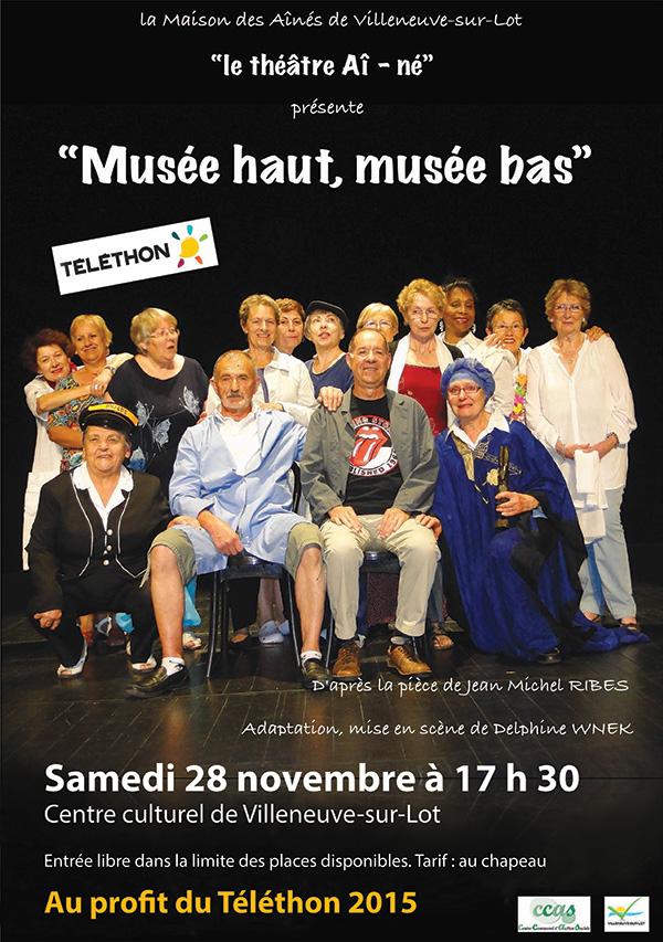 Samedi 28 novembre Musée haut, musée bas à Villeneuve sur Lot