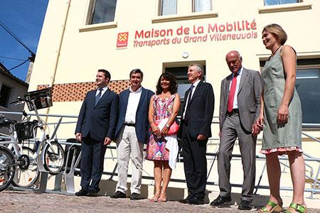 Inauguration de la Maison de la Mobilité à Villeneuve-sur-Lot le 15 septembre 2014