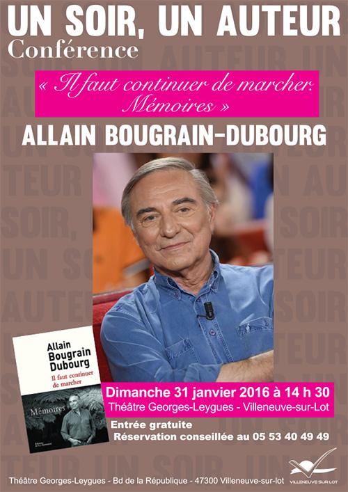 llain Bougrain-Dubourg au théâtre de Villeneuve le dimanche 31 janvier