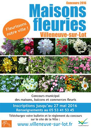 Concours Maisons fleuries 2016 à Villeneuve-sur-Lot