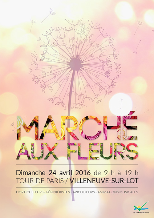 Marché aux fleurs de Villeneuve-sur-Lot le 24 avril 2016
