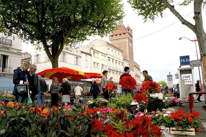 Maché aux fleurs de Villeneuve-sur-Lot