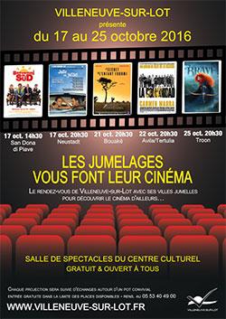 Cinéma et jumelages à Villeneuve-sur-Lot octobre 2016