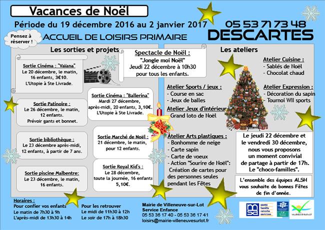 Noël 2016 ALSH Villeneuve-sur-Lot