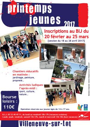 Printemps Jeunes à Vileneuve-sur-Lot