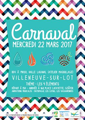Carnaval des enfants à Villeneuve-sur-Lot Mercredi 22 mars