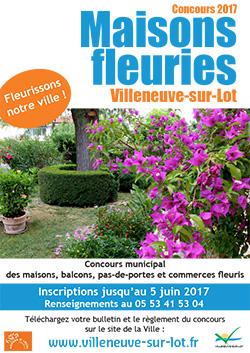 Concours maisons fleuries 2017 à Villeneuve-sur-Lot