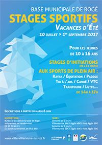 Stages sportifs à Villeneuve-sur-Lot été 2017