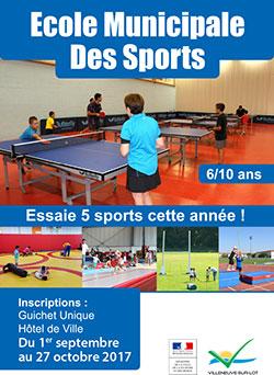 L'école municipale des sports de Villeneuve