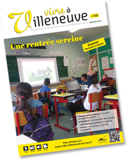 Vivre à Villeneuve, le bulletin d'information sur l'action municipale septembre 2017