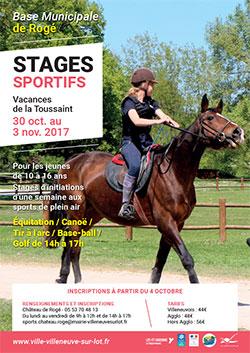 Stages sportifs à Villeneuve-sur-Lot-octobre 2017