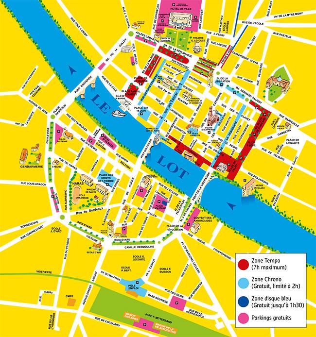 Plan de stationnement de Villeneuve-sur-Lot