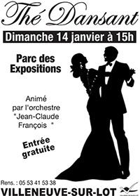 Thé dansant à Villeneuve sur Lot le 14 janvier 2018