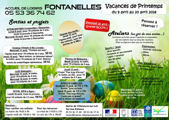 Vacances de printemps à Villeneuve-sur-Lot