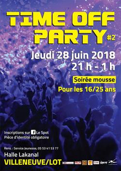 Time off party à Villeneuve