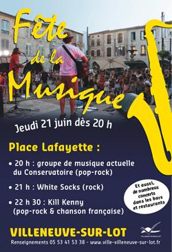 Fête de la musique à Villeeuve-sur-Lot