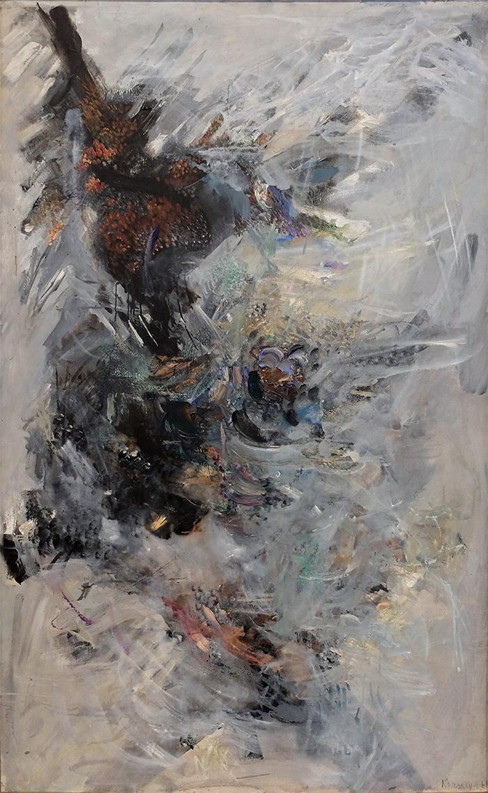 Ida Karskaya - Les autres mers. Huile sur toile. 1961  -  Galerie Hervé Courtaigne - Paris