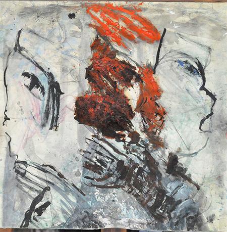 Ida Karkaya - La colère. Technique mixte sur papier. 1975 - Daniel Segala