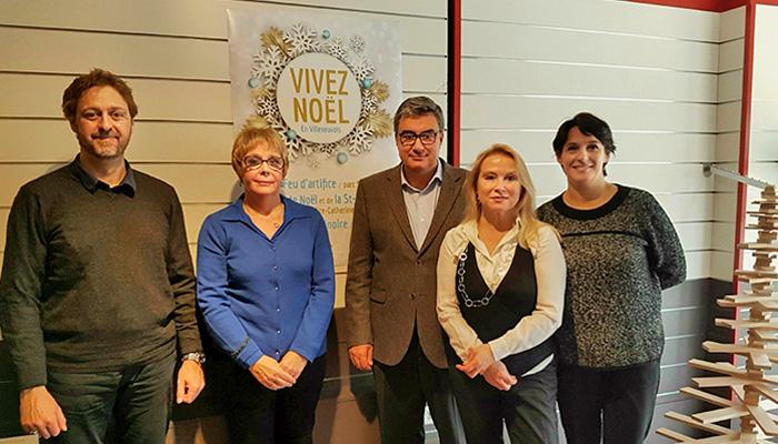Le maire Patrick Cassany et son équipe, main dans la main avec les associations de commerçants de Villeneuve et du Grand Villeneuvois pour des fêtes réussies.