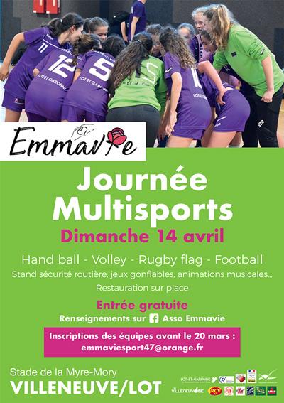 Journée multisports Emmavie 14 avril 2019