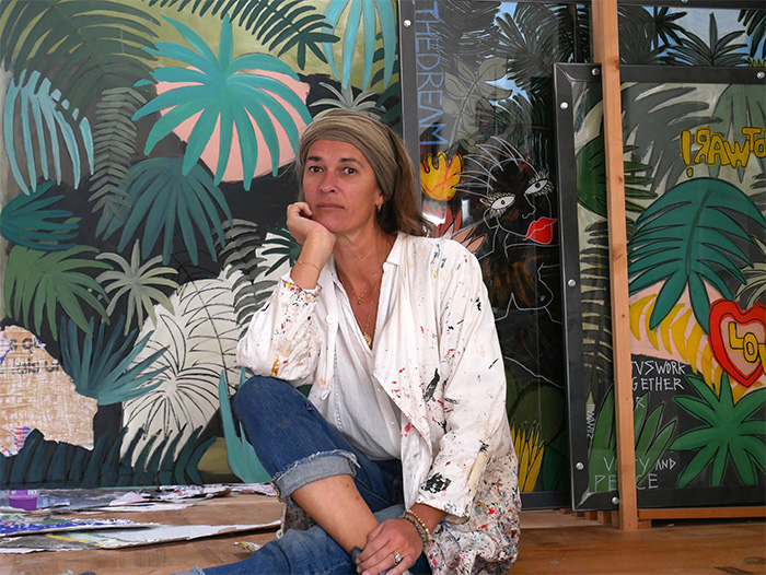 Silvia Calmejane dans son atelier © Fabrice Micheaudeau/Goodluz