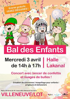 Bal des enfants le 3 avril 2019 à Villeneuve