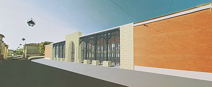 La future facade de la halle lakanal
