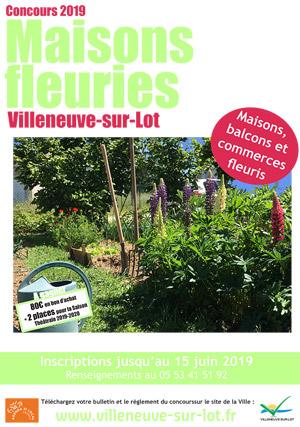 Concours ders maisons fleuries de Villeneuve-sur-Lot