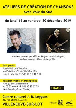 Stage chanson à Villeneuve
