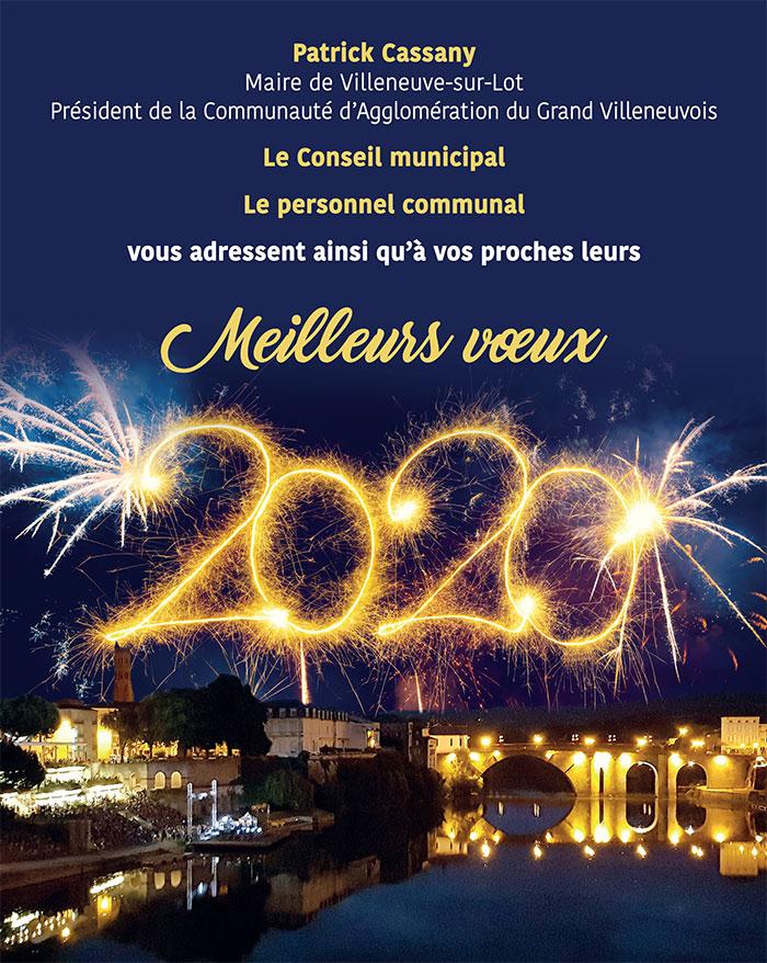 meilleurs voeux 2020 - Villeneuve-sur-Lot