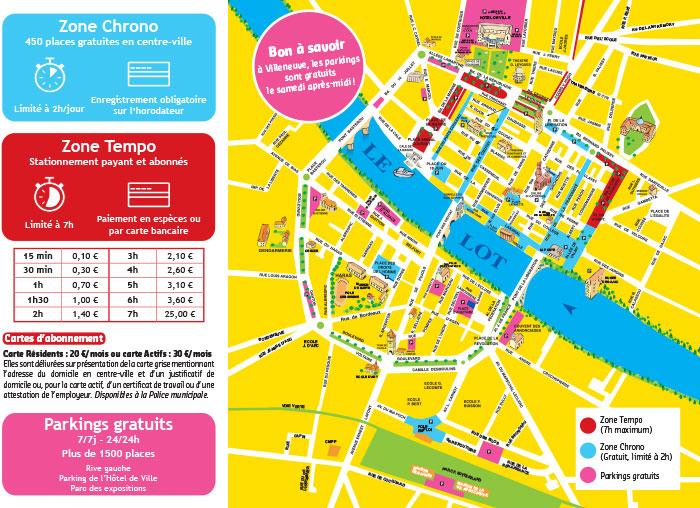 Plan de stationnement à Villeneuve