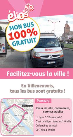 Bus gratuits à Villeneuve