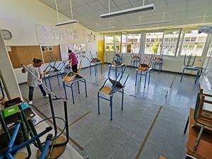 Nettoyage à l'école Jules-Ferry