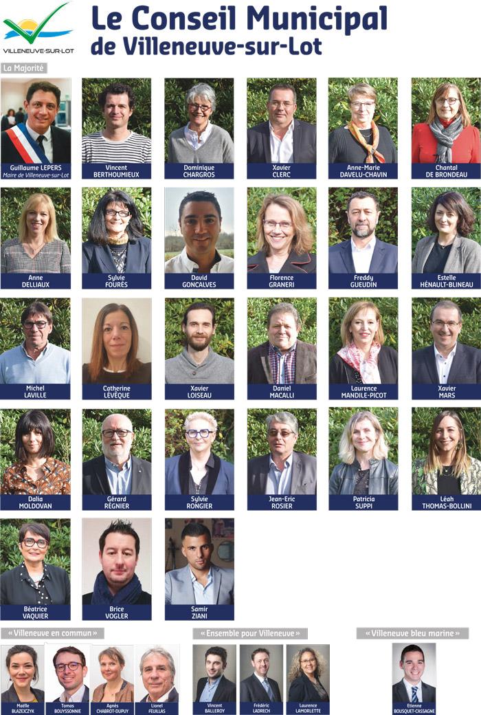 Conseil municipale de Villerneuve-sur-lot 2020