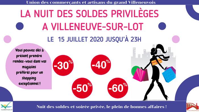 nuit des soldes 2020 à Villeneuve