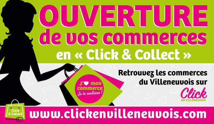 Click en Villeneuvois : vos commerces restent ouverts
