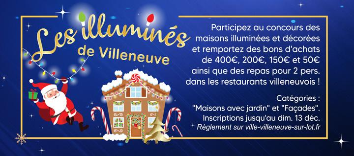 Concours des illuminés de Villeneuve