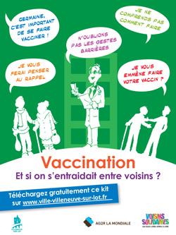Voisins solidaires à Villeneuve-sur-Lot vaccination