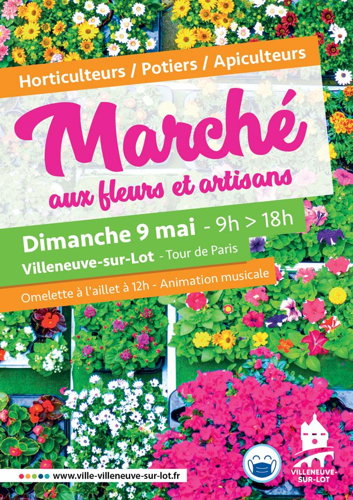 Marché au fleurs de Villeneuve-sur-Lot